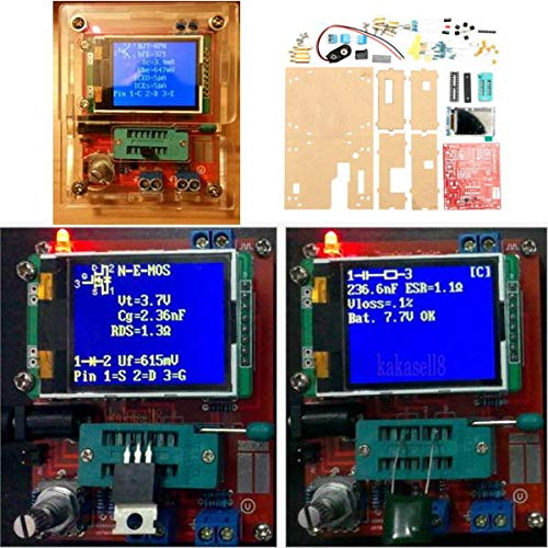 Mega328 Transistor Tester Kit Capacitance Inductance ESR Meter Diode Triode With Case - Arduino Compatible SCM & DIY Kits Module Board - 1 x DIY MCU Calculator Kit
