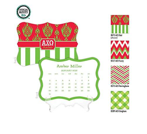 Alpha Chi Omega nalized Desk Calendar / 2017 Calendar / Personalized Calendar / Monogrammed Desk Calendar / AXO Big Little / Rush Gift, 2016 Calendar, Sorority Calendar - Kappa Alpha Theta Lilly Pulitzer