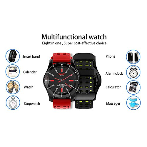 Leegoal(TM) Fashion GS8 Waterproof GPS Smart Watch Blood Pressure Heart Rate Wristwatch Support SIM Card for IOS Android (Green) by Leegoal (Image #6)
