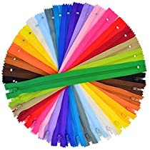 100 Pieces Nylon Coil Zippers, Bantoye 12 Inches Colorful Sewing Zippers Supplies for Tailor Sewing Crafts, 20 Assorted Colors