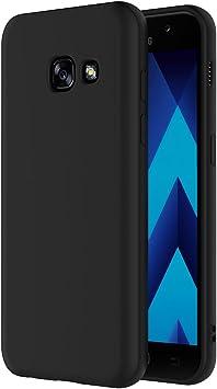 AICEK Samsung Galaxy A3?2017, Noir Coque de Protection en Silicone pour Samsung Galaxy A3?2017?Case TPU Bumper ?tui Samsung Galaxy A3?2017?Housse ...
