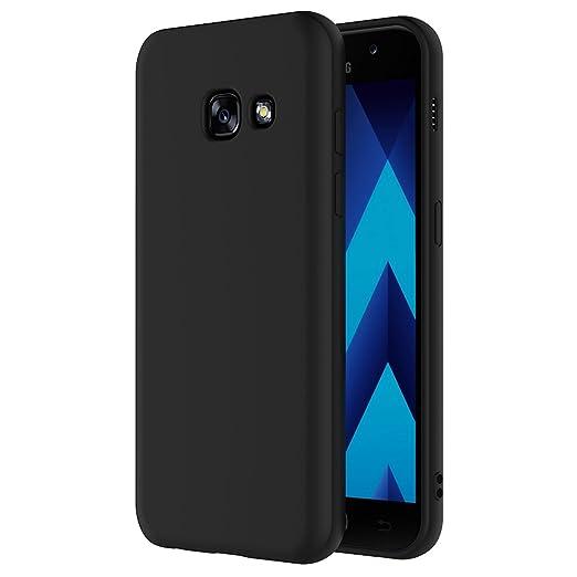 10 opinioni per Cover per Samsung Galaxy A3 2017, AICEK Cover Galaxy A3 2017 Nero Silicone Case