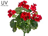 17'' UV Protected Geranium Bush Red (pack of 12)