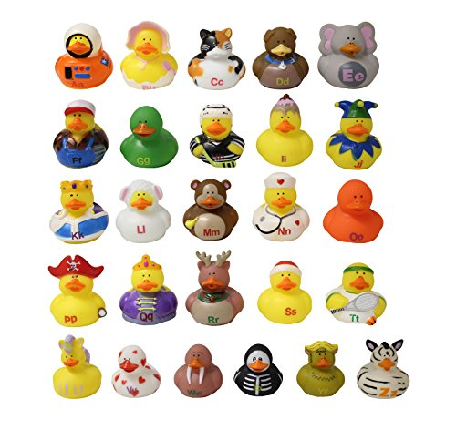 Rubber Hockey Duck (Curious Minds Busy Bags Alphabet Ducks - Rubber Duckies for Each Letter Of the Alphabet - Beginning Letter Educational Learning Toy)