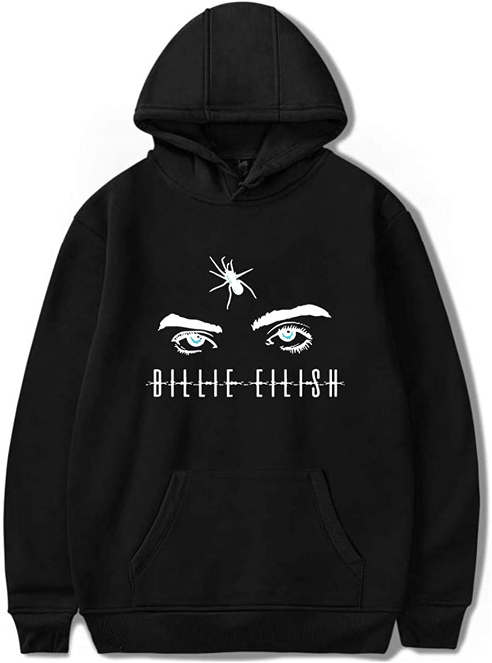 Gar/çon Billie Eilish Hoodie Bellyache Sweat /à Capuche Style Classique personnalis/é Mode Unisexe Pull Causual Hip Hop V/êtements-05-White-L