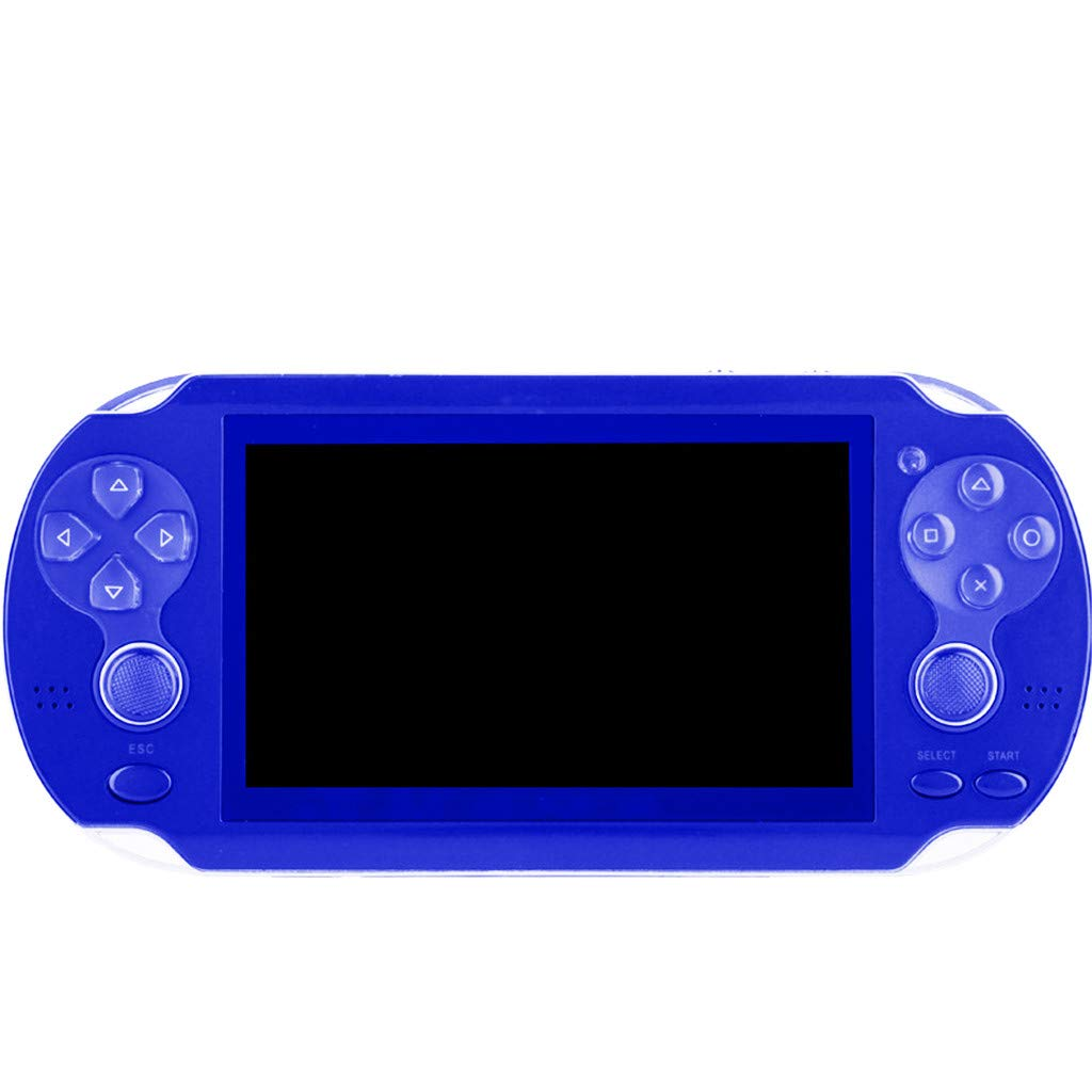 Chercherr X7 Handheld Game Console Kids Adults, Retro Game Console Portable Handheld Game Player Built-in 800 Game joystick, Home Travel Portable Gaming System Childrens Tiny Toys Digital (Blue) by Chercherr (Image #3)