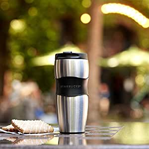 Amazon Com Starbucks Stainless Steel Lucy Classic Rubber Grip Travel Tumbler Thermos