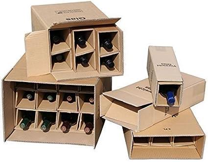 5 x 1 Botellas Caja de Envío para Botellas de Vino UPS DHL probado ...