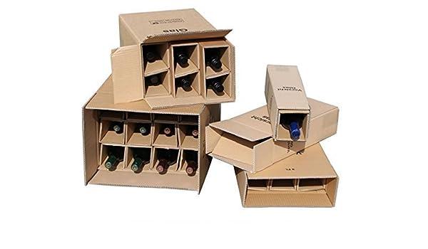 1x 1 Botellas Caja de Envío para Botellas de Vino UPS DHL ...