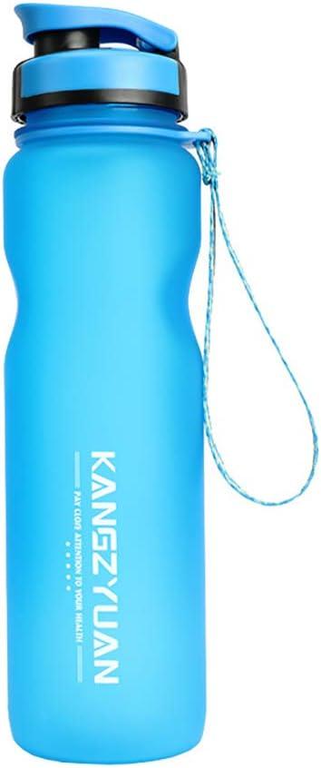Botella Deportiva, Vaso De Plástico Reutilizable Portátil Con Boquilla De Succión Para Deportes Al Aire Libre Y Ejercicios Físicos,Azul