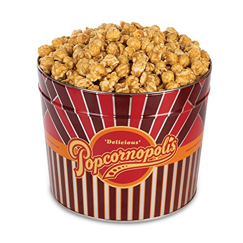 Popcornopolis Gourmet Popcorn 1.26 Gallon Tin (Caramel)