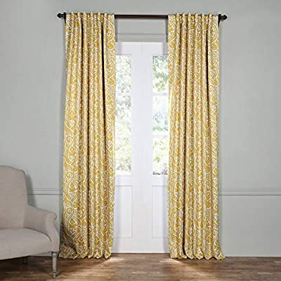 HPD HALF PRICE DRAPES BOCH-KC16075-84 Abstract Blackout Room Darkening Curtain, 50 X 84, Misted Yellow - Sold per panel 100Percent polyester 3Pole pocket with back tabs - living-room-soft-furnishings, living-room, draperies-curtains-shades - 51kfoOoJzzL. SS400  -