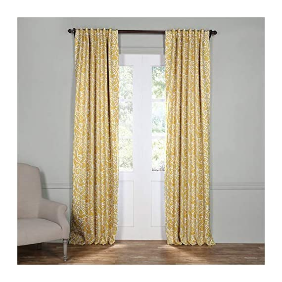 HPD HALF PRICE DRAPES BOCH-KC16075-84 Abstract Room Darkening Curtain, 50 x 84, Misted Yellow - Sold per panel 100Percent polyester 3Pole pocket with back tabs - living-room-soft-furnishings, living-room, draperies-curtains-shades - 51kfoOoJzzL. SS570  -