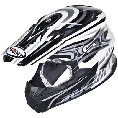 Suomy Rumble Off-Road Racing Motorcycle Helmet, Silver Vision, (Focus Off Road Helmet)