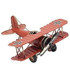 Vintage Retro Iron Aircraft Handicraft -...