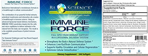 BIOSCIENCE Immune Force: Super Advanced Immune Support Booster Supplement For Men & Women (240 Softgels) Anti Inflammatory Wellness Immunity Booster With Mushroom Content by Bioscience International (Image #2)