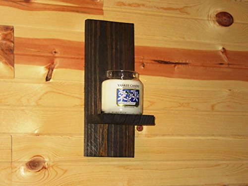 Rustic Wall Sconce, Candle Holder, Candle Sconce, dark walnut wall sconce