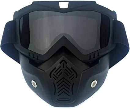 New Ski Mask Goggles Windproof Cycling Glasses Motocross Sunglasses Mouth Filter