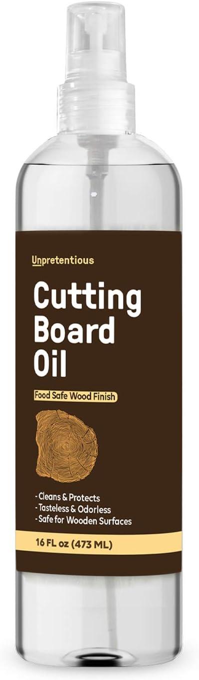 Cutting Board Oil (16 fl oz Spray Bottle) Food Safe for Cutting Boards, Butcher Blocks, Countertops & Wood Utensils