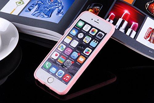 König-Shop Handy Hülle Mandala für Apple iPhone 7 Design Case Schutzhülle Motiv Flocken Cover Silikon Tasche Bumper Rosa