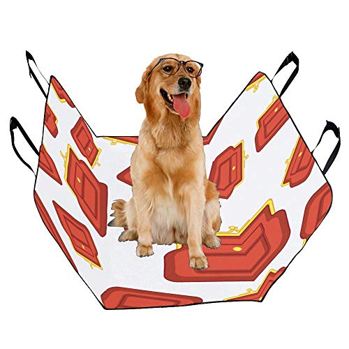 - JTMOVING Fashion Oxford Pet Car Seat Pouch Fashion Design with Clutch Waterproof Nonslip Canine Pet Dog Bed Hammock Convertible for Cars Trucks SUV