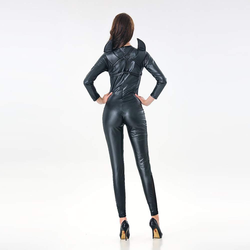 Amazon.com: XSQR - Traje de piel sintética para mujer ...