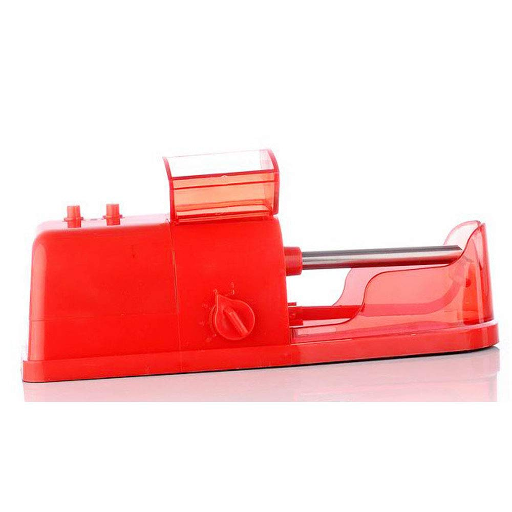 Gift Giving Easy to Carry Light Electric Cigarette Rolling Machine Tobacco Maker Homemade Durable Home Use,Red