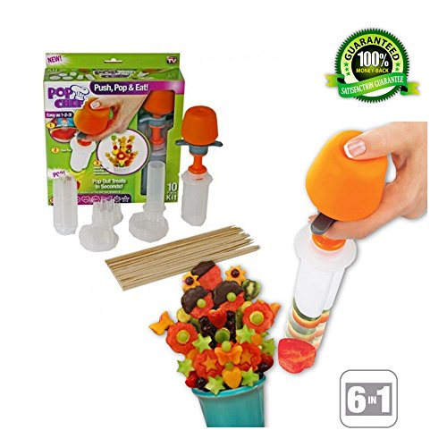 Fruit and Vegetable Shape Cutter - Fruit Decorating Tools - Fruit Slicer Set - Pop Chef Fruit Cutter - Cookie Decorating tools - for Party Birthday - Men and Women by Vegetit