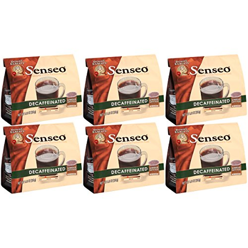 Senseo Decaffeinated Coffee, 18-Count Pods (Pack of 6)