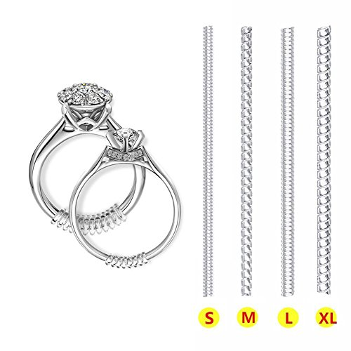 Ring Size Adjuster 12 Pack, Invisible Size Adjuster for Loose Rings, 4  Sizes Rings Adjuster