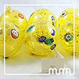 Set of 6 Murano glass Christmas ball handmade. Festive Season Christmas Ball Ornaments, Tree Decorations (Set of 6, 80mm)