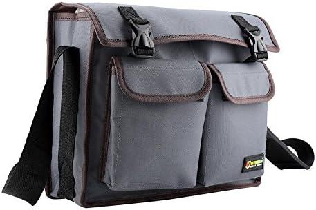 Yosoo 多機能 ツールバッグ 工具差し入れ 道具袋 オックスフォード布 大容量 肩掛け可能 耐久性 耐摩耗性 建築工事 電気修理に使用(グレー)