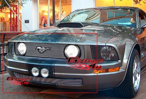 APS Fits 2005-2009 Ford Mustang GT V8 Billet Grille Combo #F67731A
