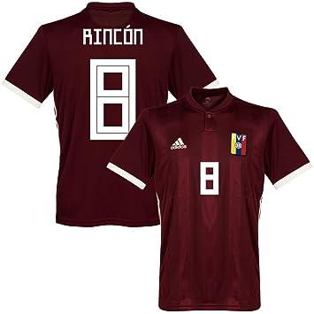 Venezuela casa Rincón 8 camiseta 2018 2019 (oficial de impresión), hombre, granate: Amazon.es: Deportes y aire libre