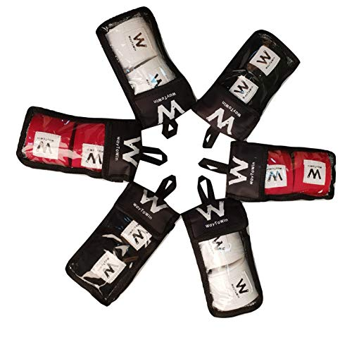 WayToWin Elastic Professional 180 inch Idea Two-Way Handwraps for Boxing Kickboxing Muay Thai MMA