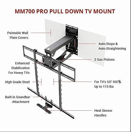 Mantelmount Pro Fireplace Mount Pull Down Bracket