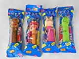 Group of 4 Muppets Pez Dispensers in Cello Bags: Miss Piggy & Kermit & Animal & Fozzie Bear