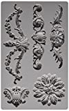 Prima Marketing 814793 Baroque No.3 Iron Orchid Designs Vintage Art Decor Mold, Grey