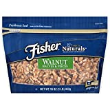 Fisher Chef's Naturals Walnut Halves & Pieces (Pack of 2) 1 Pound Bags