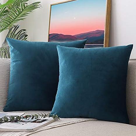 CCRoom Fundas de Cojines, Paquete 2 de Funda de Almohada Decorativas de Terciopelo Suave para el sofá de un Dormitorio de Auto 18