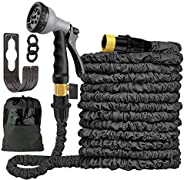Garden hose-100 FT Expandable Garden Water Hose Pipe With Solid Brass Fittings, Leak-Proof Flexible Magic Hose