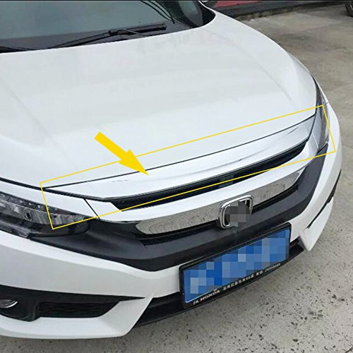 Rqing for Honda Civic 10th 2016 2017 2018 2019 Chrome Front Hood Bonnet Cover Trim