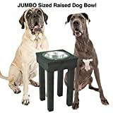 JUMBO Raised Dog Bowl for Extra Large Dogs from OFTO with 5 quart stainless steel bowl