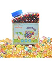 40,000 Pieces Gel Soil Colorful Water Crystal Beads Clear Jelly Water Gems Vase Filler for Home Decorations