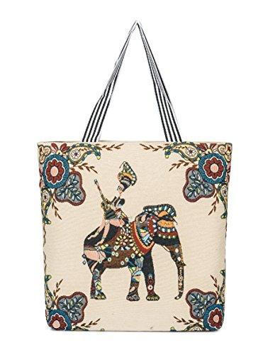LINJUN Women's Canvas Shoulder Hand Bag Tote Bag (nvren daxiang) …