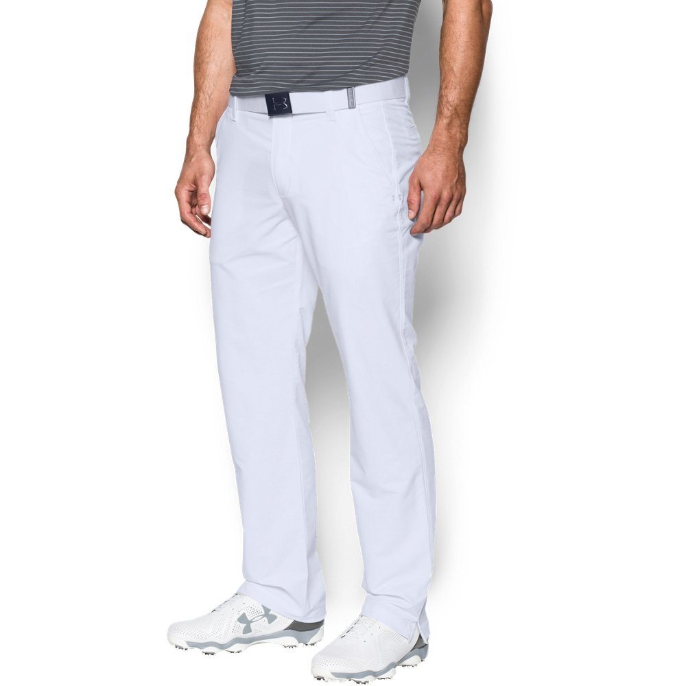 Under Armour Men's Match Play Golf Pants, White /White, 34/30 by Under Armour