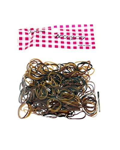 - Zac's Alter Ego Pack Of 250 Small Mini Braiding Hair Bands/Rubber Elastics Elasticated Brown Shades