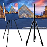 Tripod Bluefringe Artist Easels for Display with Portable Bag for Floor/Table-Top Drawing and Displaying,Black Art Easels W/Adjustable Height from 18-47'' for Poster, Displaying, Drawing and Paint