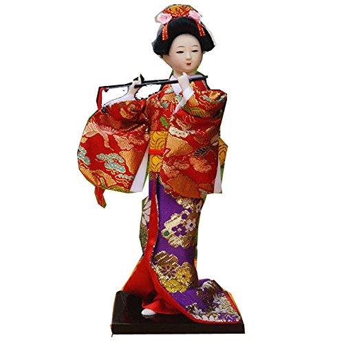 9''/24cm Vintage Japanese geisha Kimono Kabuki Figurine for sale  Delivered anywhere in USA