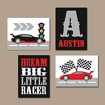 Amazon.com: Race CAR Wall Art Big Boy Room Decor Canvas or Prints ...
